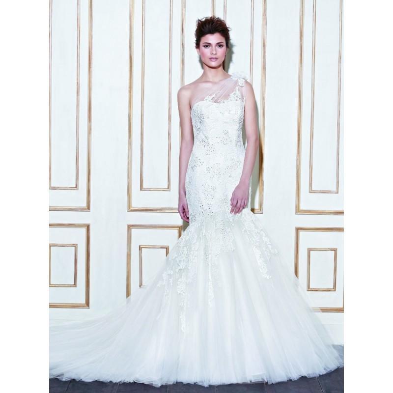 Свадьба - Elegant One Shoulder Mermaid Sweep Beading Mesh Wedding Dress - Star Bride Apparel Wedding Dresses, Dresses on sale 2016