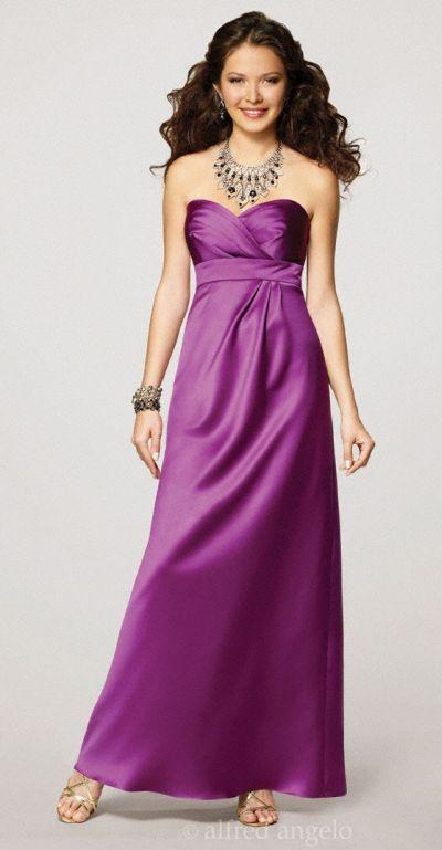 Hochzeit - Alfred Angelo Strapless Satin Bridesmaid Gown 7132 - Brand Prom Dresses