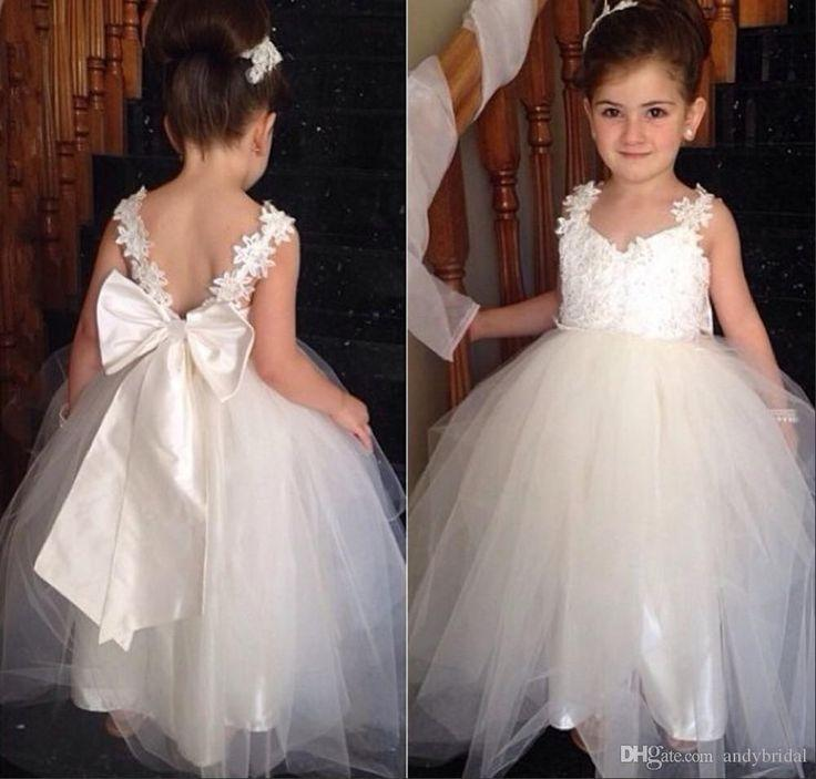 Flower girl tutu dress 2015 flower girls dresses with for Little flower girl wedding dresses