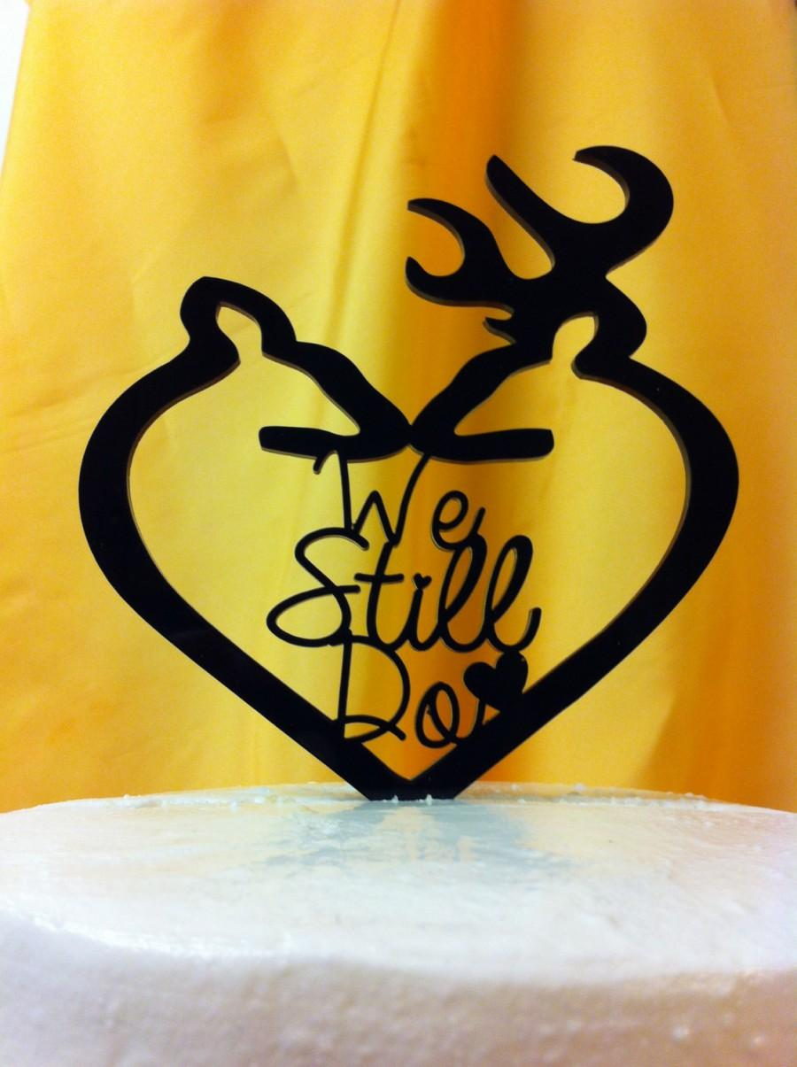 Silhouette We Still Do Anniversary Buck And Doe Acrylic, Rustic ...