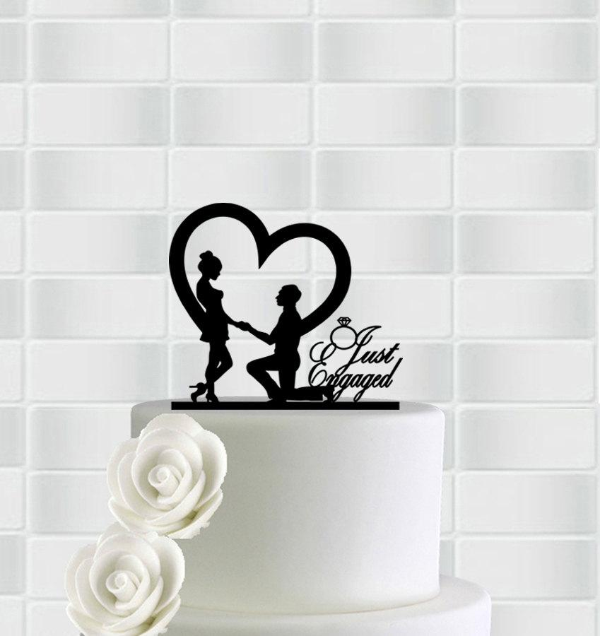 Mariage - Engagement Cake Topper,Just Engaged Cake Topper,Wedding Cake Toppers,Engagement Party Decorations,Engagement Party Ideas,Engagement Topper