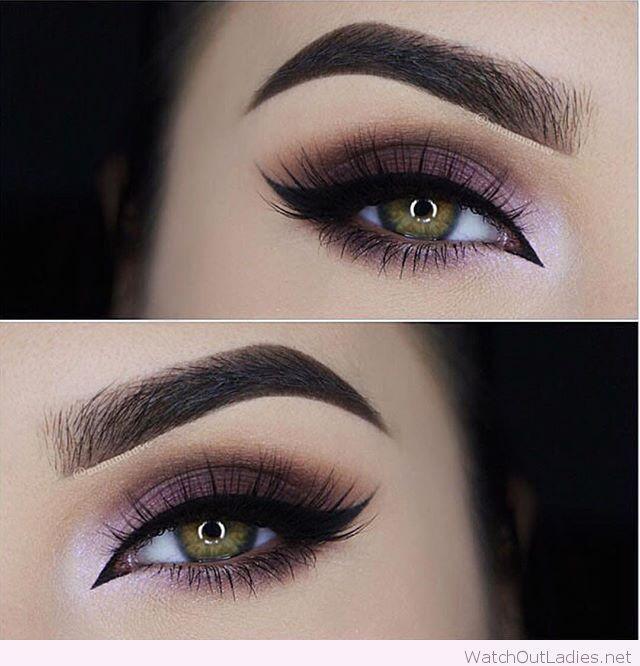 Свадьба - Purple Eye Makeup For Green Eyes