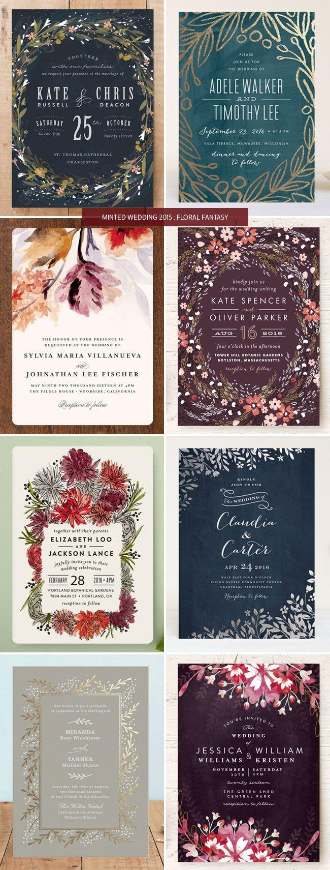 Wedding - Minted Wedding Invitations 2015 : Floral - Invitation Crush