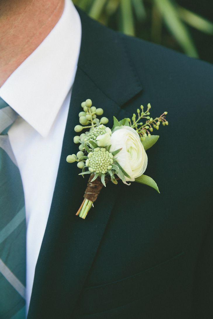 Свадьба - Ranunculus, Anemone And Eucalyptus Boutonniere