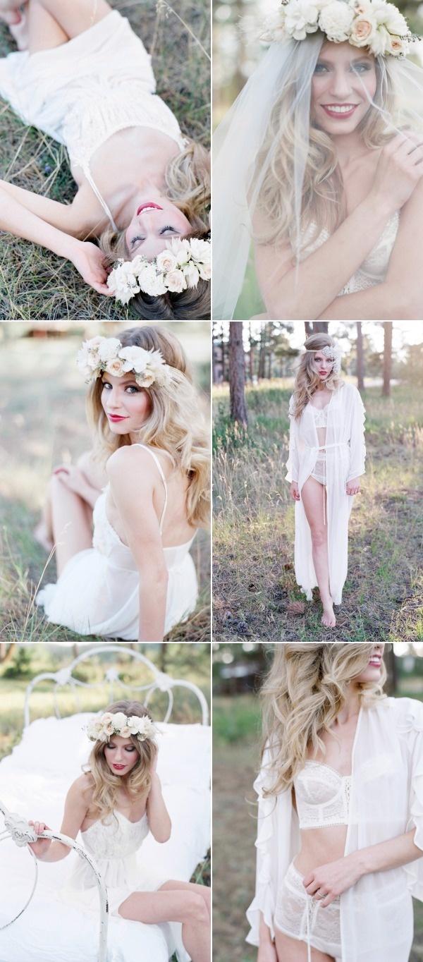 Свадьба - Evergreen Bridal Boudoir From Laura Murray Photography   Bare Root Flora