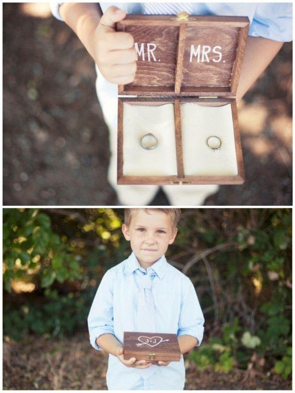 Wedding - DIY Personalized Wooden Ring Bearer Box