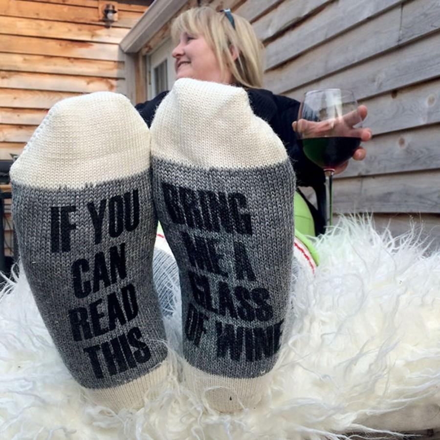 Wedding - Hardworking wine drinkers socks - size descriptions below - preorder