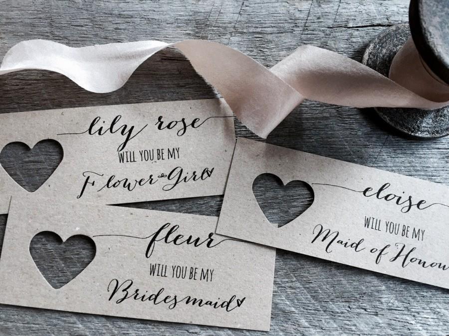 زفاف - Will you be my Bridesmaid, Will you be my Bridesmaid Tags, Will you be my Maid of Honour, Will you be my Flower Girl, Be my Bridesmaid