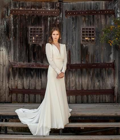 Romantic Wedding Dress Long Sleeve Wedding Dress Bohemian Wedding Dress  Vintage Wedding Dress Elegant Wedding Gown Custom Designe