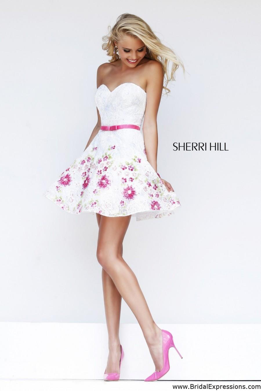Wedding - Sherri Hill 4310 Short Floral Lace Prom Dress - Crazy Sale Bridal Dresses