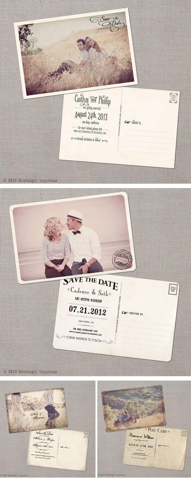Mariage - Nostalgic Imprints, Vintage-Hochzeitseinladungen, Vintage Wedding Invitations