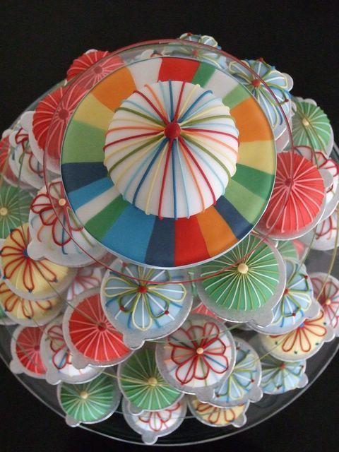 Mariage - これはもう、和菓子と呼びたい!着物柄のカップケーキの可愛さに感激♡