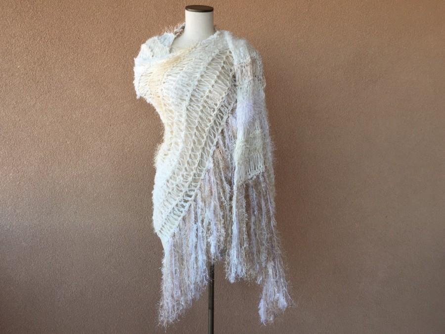 Bohemian Wedding Bridal Scarf Bride Wrap Shawl Accessories Tan Off White Ivory Cream Southwest