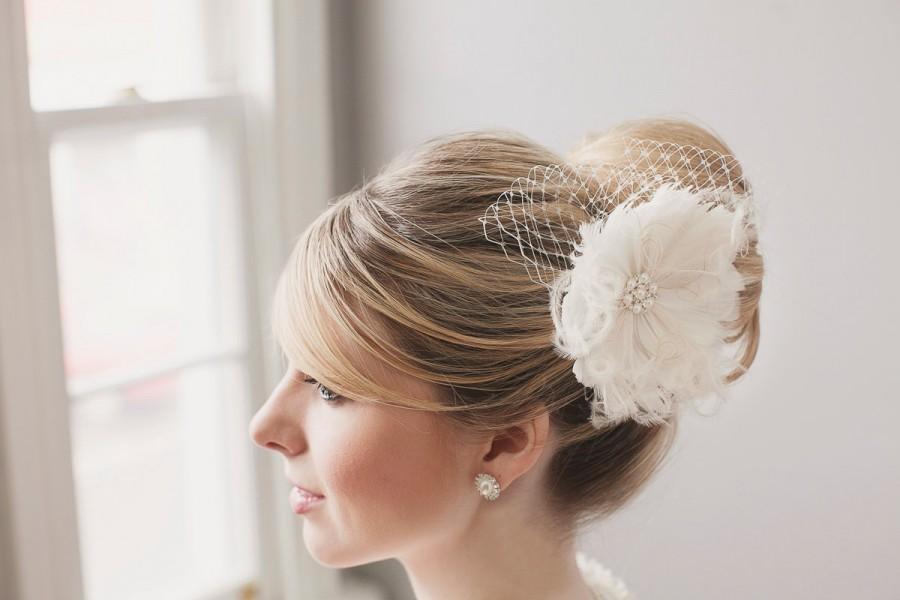 Bridal Hair Flower. Bridal Fascinator 1437f9c0a1b