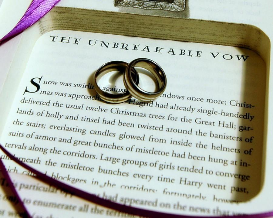 Mariage - Hollow Book Safe Ring Bearer (Harry Potter and the Half-Blood Prince)