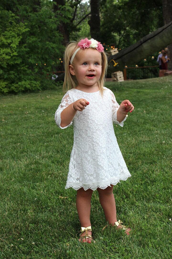 Mariage - The Simply Grace Lace Flower Girl Dress
