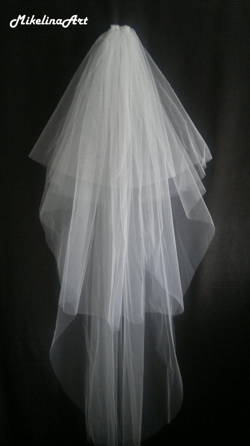 Mariage - White Wedding Veil, Three Layers