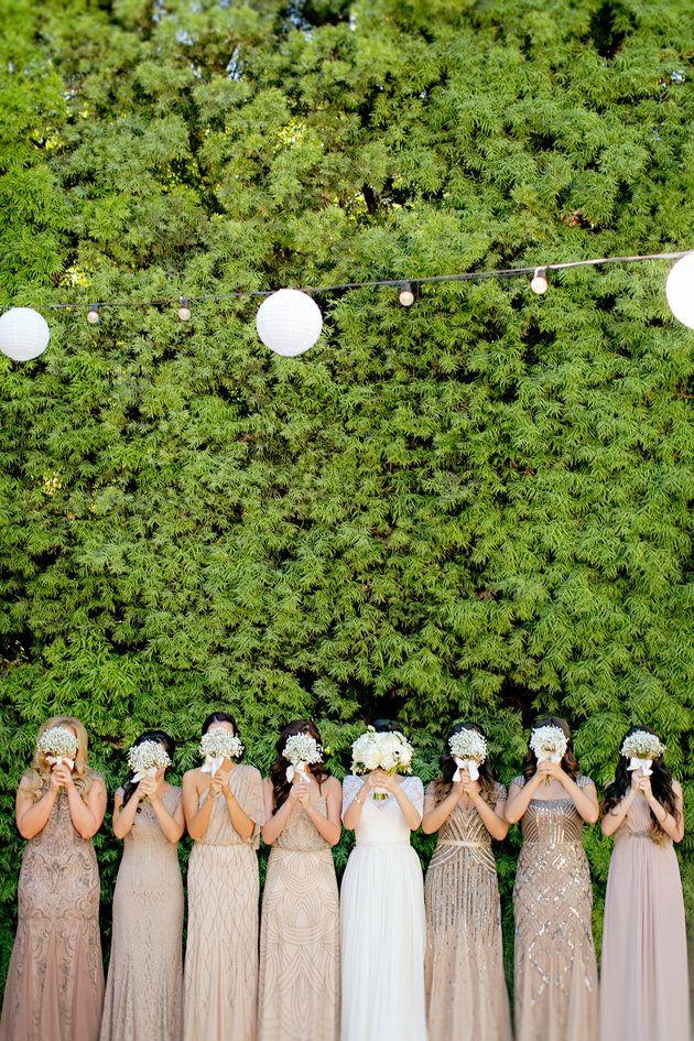 Wedding - 20 Bridal Parties Who Flawlessly Executed The Mismatched Dress Trend