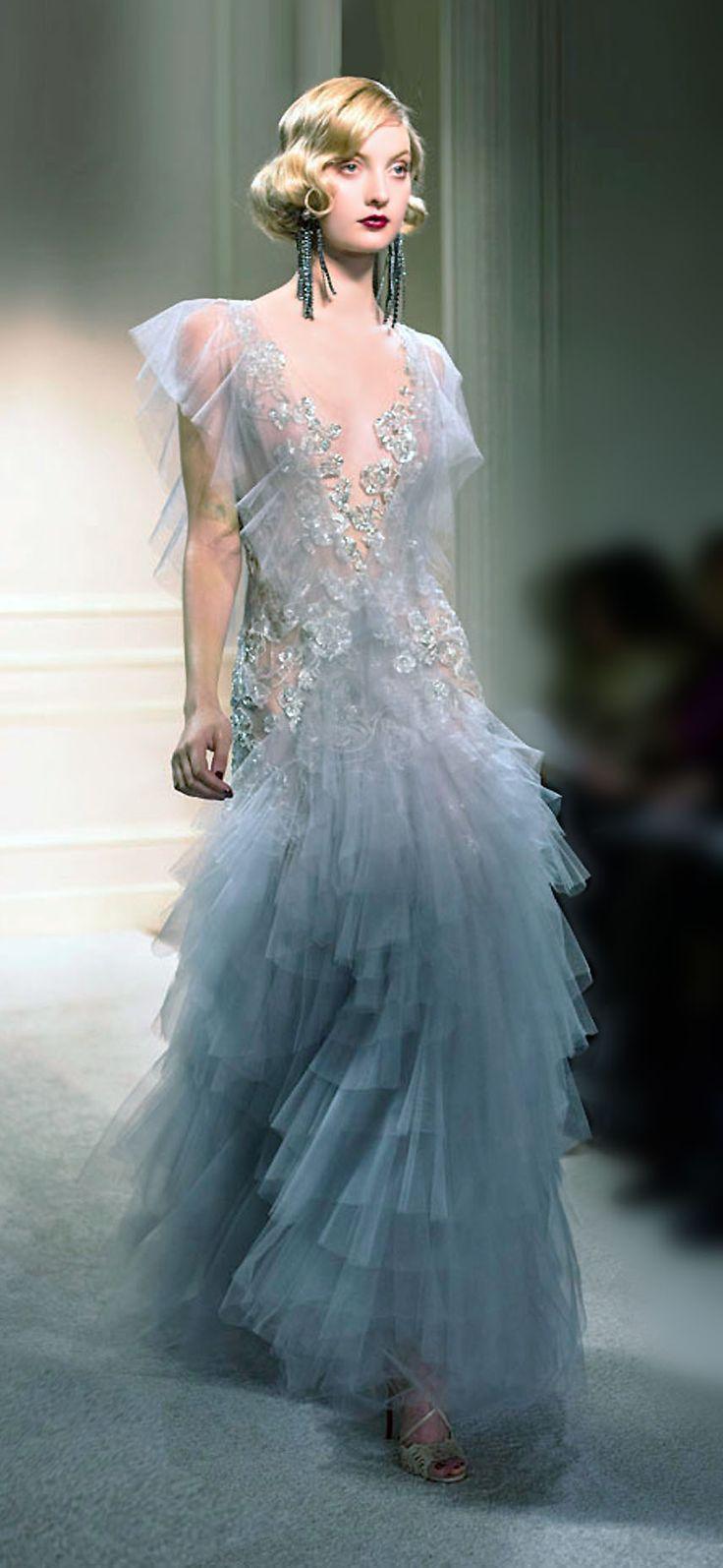 Wedding - Blue Bridal Dress
