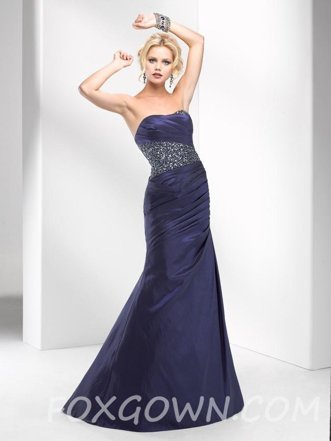 Prom Kleid Mit Perlen Und Falten Bodice - Festliche Kleider #2568495 ...