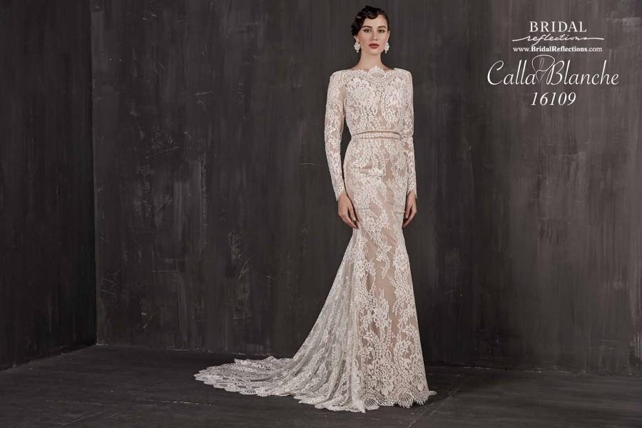 زفاف - Calla Blanche 16109 - Burgundy Evening Dresses