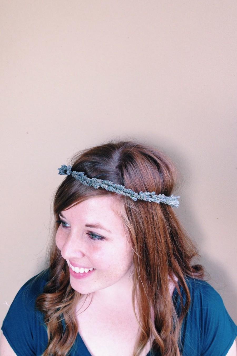 Mariage - Dried lavender floral crown