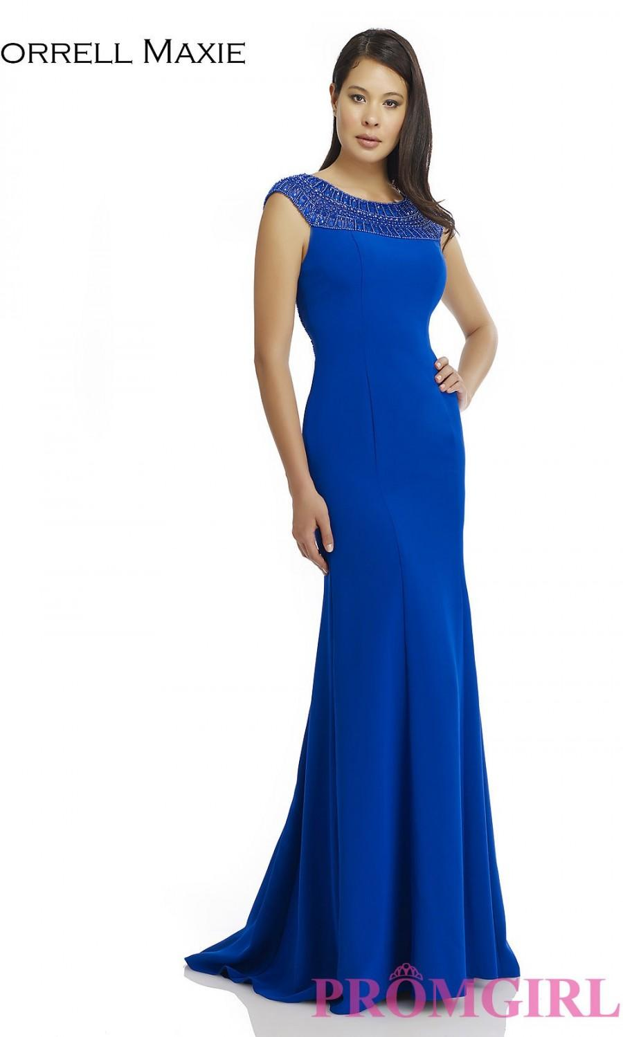 Wedding - Long High Neck Dress 14914 with a Sheer Back - Brand Prom Dresses