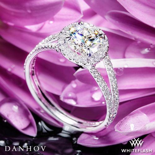 Mariage - 14k White Gold Danhov LE116 Per Lei Diamond Engagement Ring
