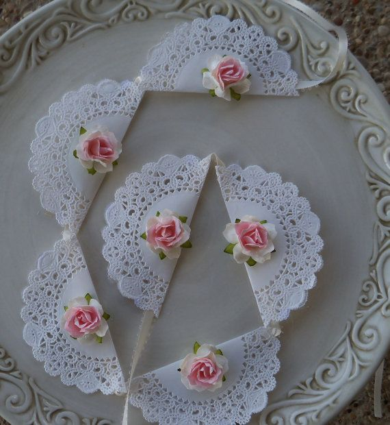 Свадьба - Birthday Decoration Shabby Chic Secret Garden Cupcake Toppers For Birthday Party