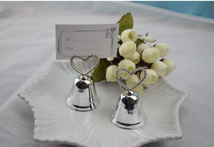 Свадьба - 10 Pcs Silver Bell Wedding Place Card Holder