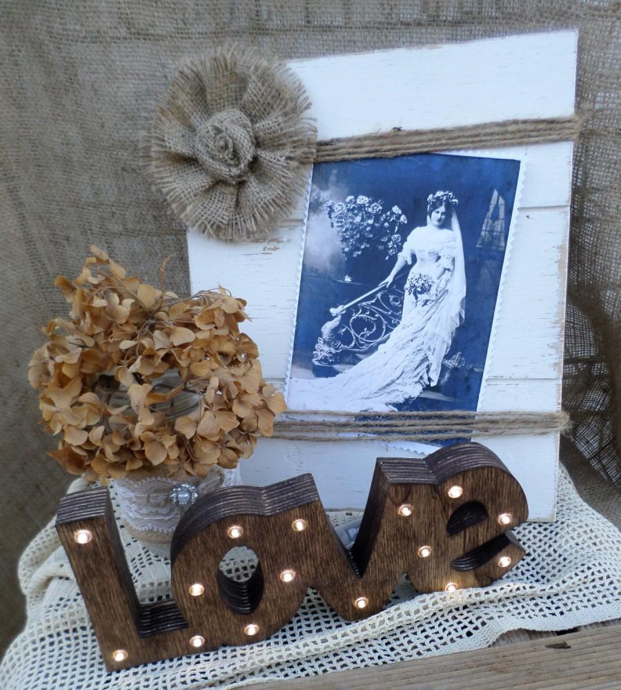 Wedding - Rustic Wedding Lighted Love Sign