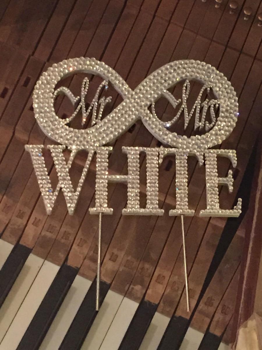 Свадьба - Wedding Cake Topper - Infinity