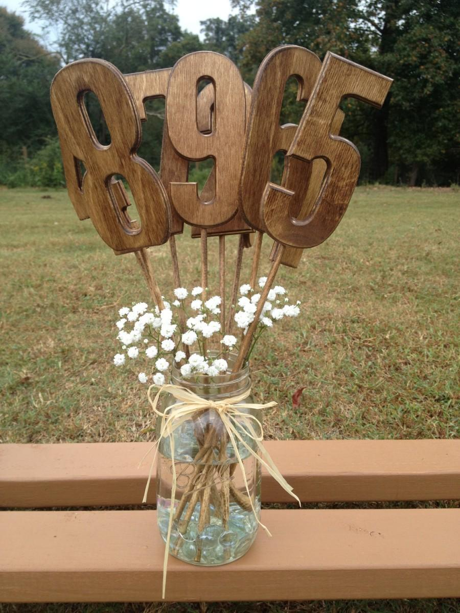 Свадьба - Wedding Table Numbers - Rustic Wedding - Wooden Table Numbers - Wedding Table Decor - Wedding Table Signs - Table Numbers for Wedding