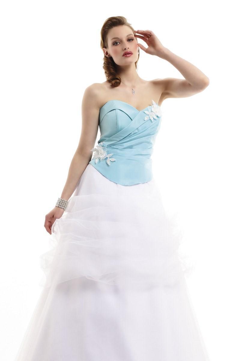 Свадьба - Pia Benelli, Arome turquoise et blanc - Superbes robes de mariée pas cher