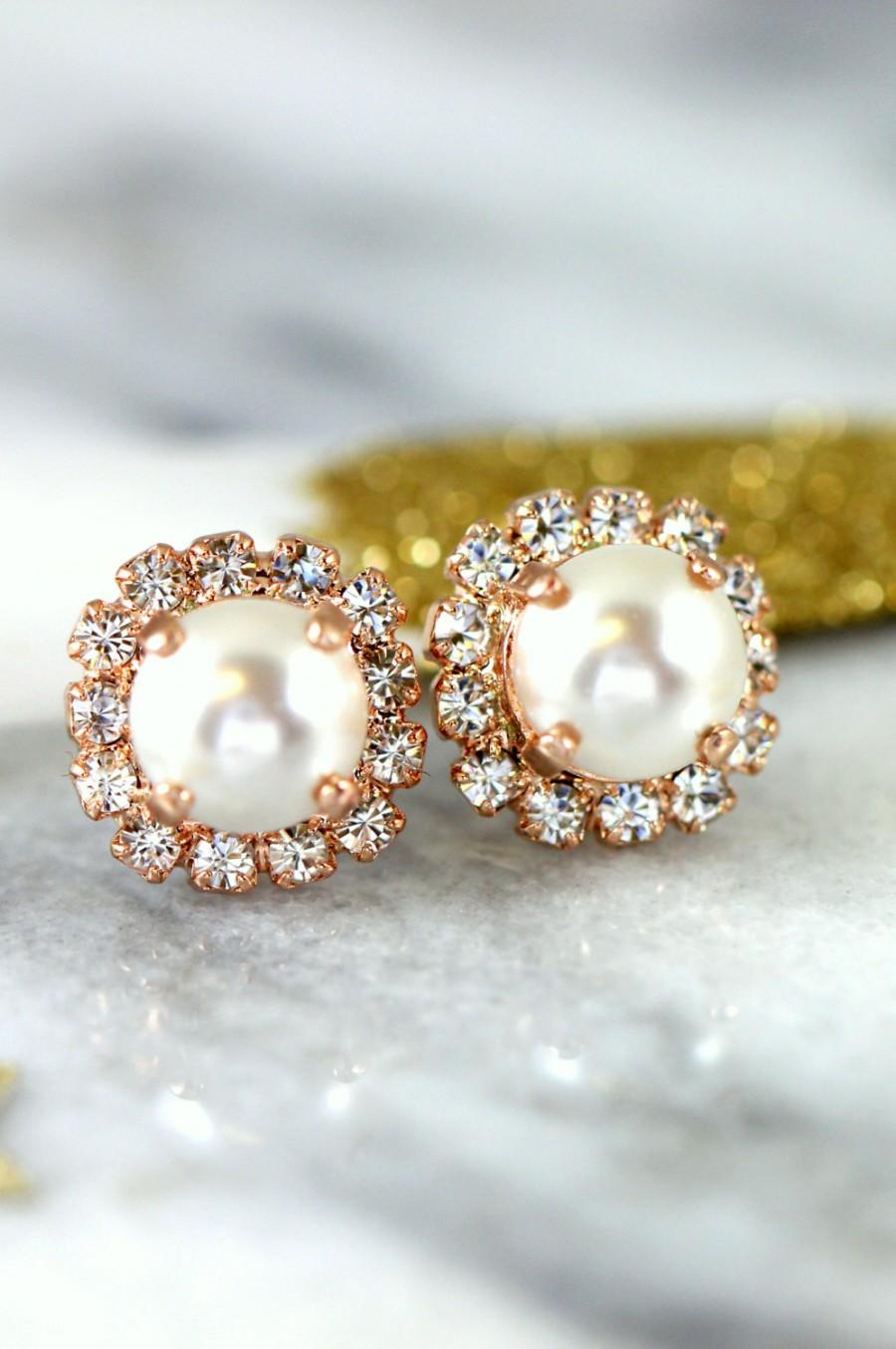 earrings auree medium freshwater pearl stud molina white jewellery