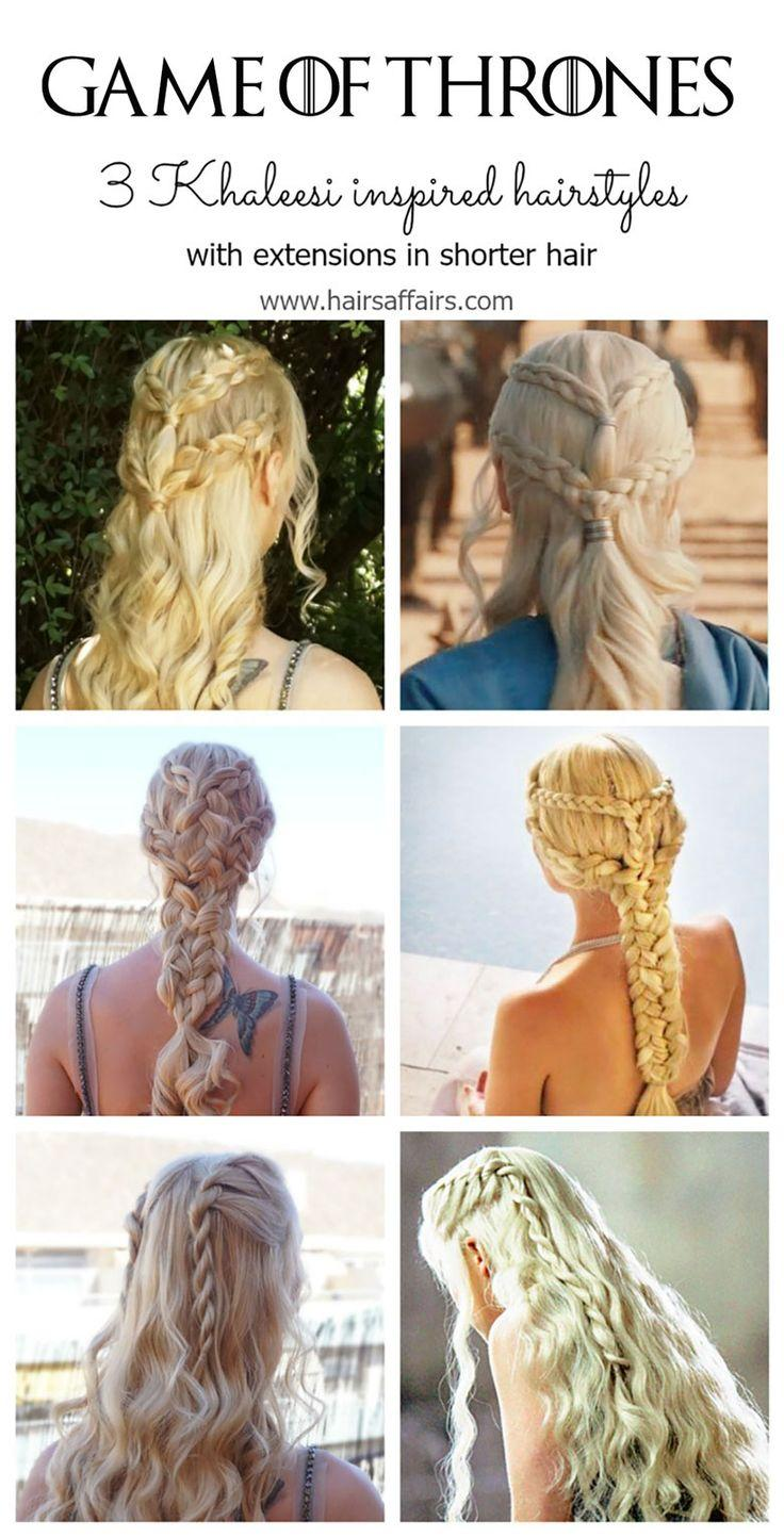 Hochzeit - GAME OF THRONES HAIR TUTORIAL WITH EXTENSIONS - Hairsaffairs