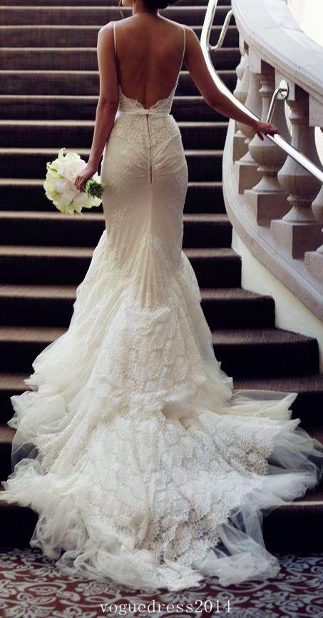 43d4315fdccb Dress - Backless Wedding Dress #2568770 - Weddbook
