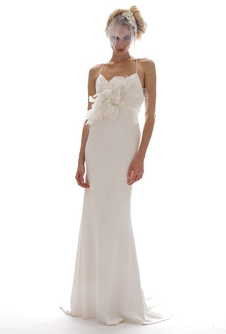 Elizabeth fillmore fall 2012 orchide sleeveless silk for Cheap wedding dresses sale