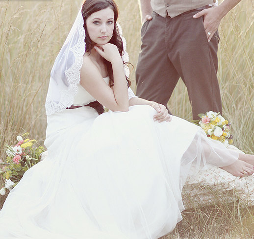 زفاف - Mantilla - Elbow Length Veil