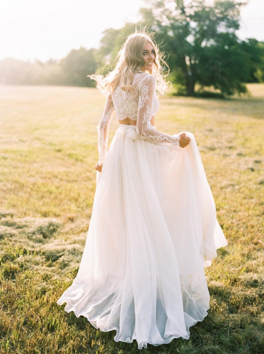 "Wedding - Wedding Separate - Florence Skirt - Chiffon - 10"" Train"