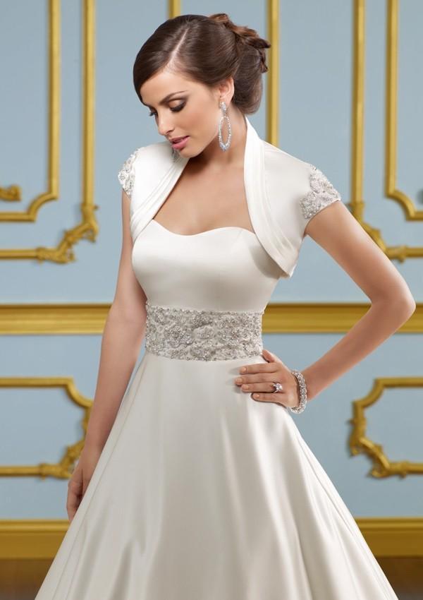 bd7b43923c3 Blu by Mori Lee 4916 Satin A-Line Wedding Dress - Crazy Sale Bridal Dresses