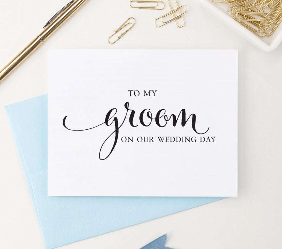 To My Groom On Our Wedding Day Card To My Groom Card Wedding Day