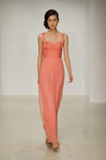 Wedding - Simple A-line Spaghetti Straps Ruching Floor-length Chiffon Evening Dresses - Elegant Evening Dresses