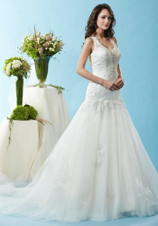 Hochzeit - Eden Bridals BL120 Wedding Dress - The Knot - Formal Bridesmaid Dresses 2016