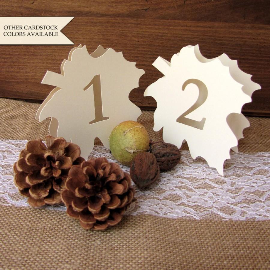 Свадьба - Fall wedding table numbers - Leaf table number - Table numbers wedding - Fall table numbers - Autumn wedding - Wedding table number