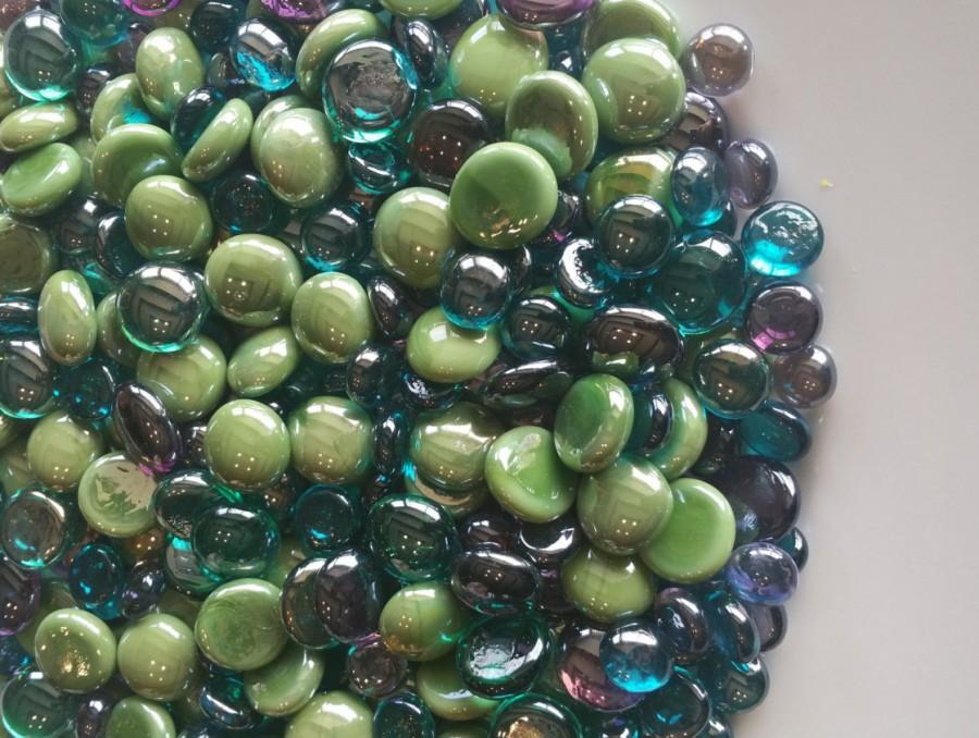 Vase Filler Peacock Flat Back Glass Gem Mix Discounted Bulk Options
