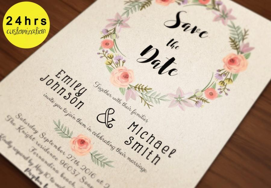 Save The Date Template  Save The Date Printable  Printable Save