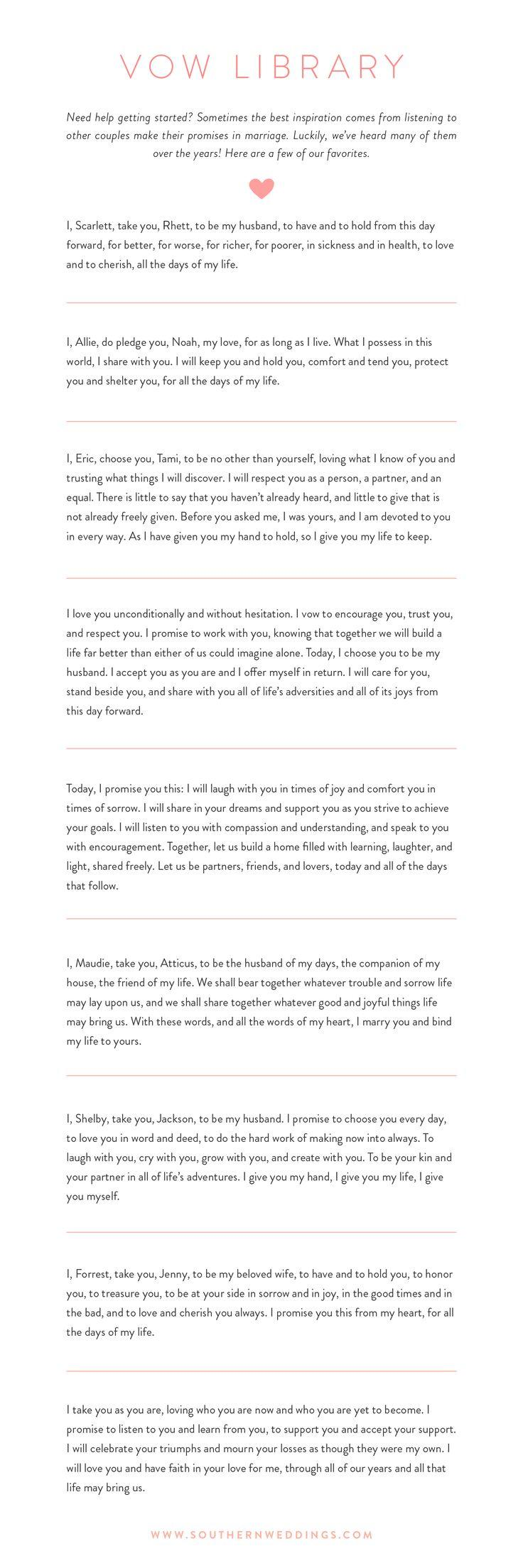 Wedding - 9 Romantic Wedding Vows