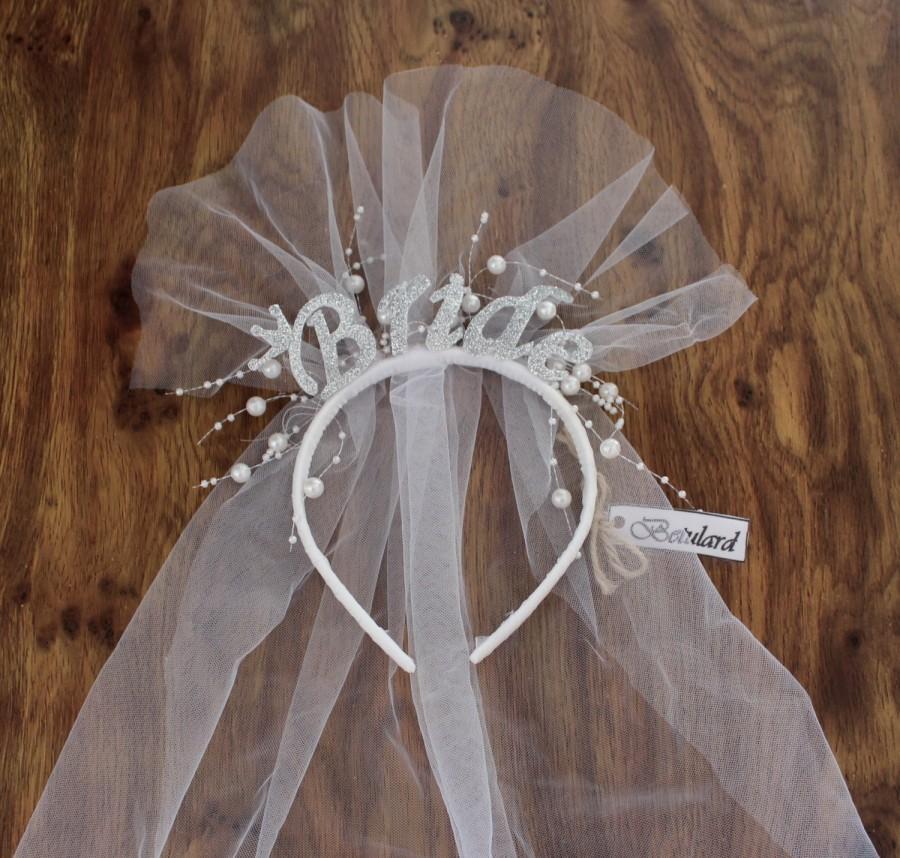 Mariage - Letter Bride Headband Bridal Shower Party Tiara Weddng Headpiece
