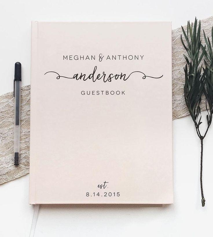 Wedding - Custom Last Name Calligraphy Wedding Guest Book